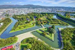 Parque de Goryokaku imagens de stock