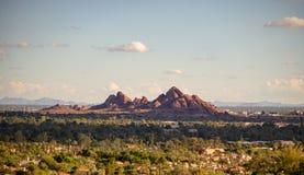 O parque de Papago, Phoenix, Az, EUA abandona a paisagem fotos de stock