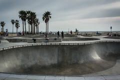 O parque do patim de Veneza, na praia de Veneza imagem de stock royalty free