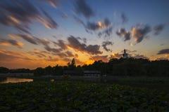 O parque do por do sol em Beihai Imagem de Stock