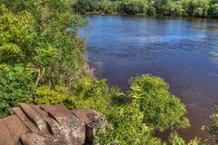 O parque estadual de um estado a outro é ficado situado no St Croix River por Taylo Fotos de Stock