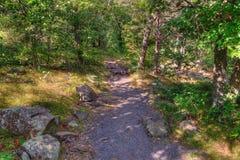 O parque estadual de um estado a outro é ficado situado no St Croix River por Taylo Foto de Stock