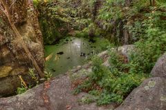 O parque estadual de um estado a outro é ficado situado no St Croix River por Taylo Fotografia de Stock Royalty Free