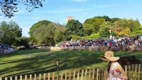 O parque medieval NYC 149 de Tryon do forte do festival 2014 @ Fotografia de Stock Royalty Free