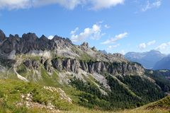 O parque nacional das dolomites Fotografia de Stock