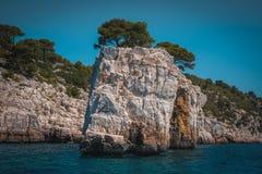 O parque nacional de Calanques, França sul Imagens de Stock