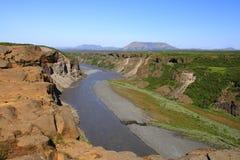 O parque nacional de Jökulsárgljúfur Imagens de Stock Royalty Free