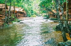 O parque nacional de Kirirom está na montanha de Kirirom situada na província Camboja de Speu do Kampong Fotografia de Stock Royalty Free