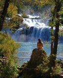 O parque nacional de Krka Imagens de Stock