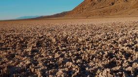 O parque nacional de Vale da Morte surpreendente em Califórnia video estoque