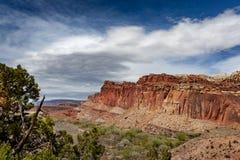 O parque nacional do recife do Capitólio está no deserto do sul do ` s de Utá Foto de Stock Royalty Free