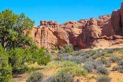 O parque nacional dos arcos no verão balança com céu azul Foto de Stock Royalty Free