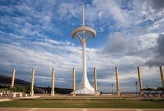 O parque olímpico Montjuic em Barcelona foto de stock royalty free