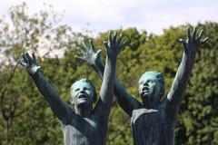 O parque original da escultura é lifework do ` s de Gustav Vigeland com mais de 200 esculturas no bronze, granito e Imagem de Stock