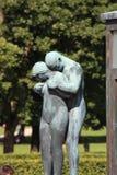 O parque original da escultura é lifework do ` s de Gustav Vigeland com mais de 200 esculturas no bronze, granito e Imagens de Stock
