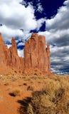O parque tribal do Navajo do vale do monumento foto de stock royalty free