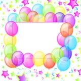O partido Balloons a bandeira Imagem de Stock