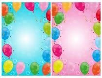 O partido balloons fundos Imagem de Stock Royalty Free