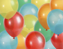 O partido balloons o fundo Fotografia de Stock Royalty Free