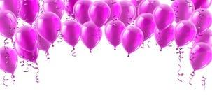 O partido cor-de-rosa balloons o fundo ilustração royalty free