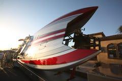 O partido de rua do evento do desporto de barco do desempenho da tempestade no deserto Imagens de Stock Royalty Free