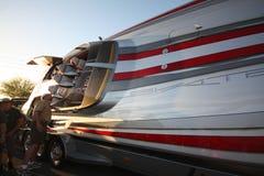 O partido de rua do evento do esporte de barco do desempenho da tempestade no deserto Imagem de Stock Royalty Free