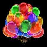 O partido do carnaval balloons a decoração do aniversário do grupo colorido ilustração royalty free