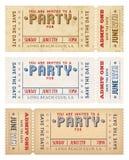 O partido do Grunge do vetor convida Fotografia de Stock Royalty Free