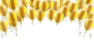 O partido do ouro Balloons o fundo ilustração royalty free