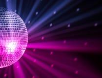 O partido ilumina a esfera do disco Imagens de Stock