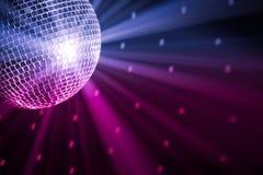 O partido ilumina a esfera do disco Foto de Stock