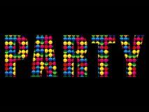 O partido rotula o alfabeto colorido do disco da música Imagens de Stock Royalty Free