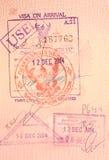 O passaporte carimba - o visto na chegada a Tailândia Imagens de Stock