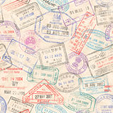 O passaporte carimba a textura sem emenda Fotografia de Stock Royalty Free