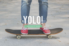 O passatempo da cultura de juventude tende o conceito da ação Imagens de Stock
