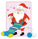 O passatempo do Natal do paizinho Fotos de Stock