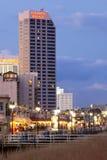O passeio à beira mar mundialmente famoso de Atlantic City fotos de stock