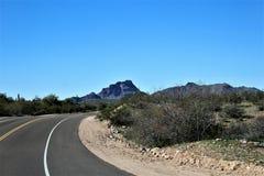 4o passeio anual para os cavalos selvagens de Salt River, o Arizona da motocicleta, Estados Unidos imagens de stock