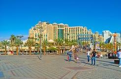 O passeio central de Eilat Imagens de Stock Royalty Free