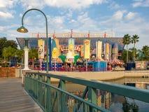 O passeio de Simpsons em estúdios universais Florida Foto de Stock Royalty Free