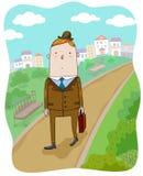 O passeio do homem de negócios ilustração royalty free