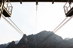 O passeio do teleférico permite visitantes de alcançar perto de uma da ervilha Imagem de Stock