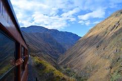 O passeio do trem do nariz do diabo, Equador imagem de stock royalty free