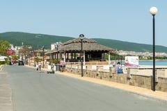 O passeio em Sunny Beach em Bulgária Fotografia de Stock Royalty Free