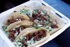O pastor, o asada, e os carnitas do al dos tacos à-vão Imagem de Stock Royalty Free
