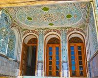 O patamar da casa de Qavam, Shiraz, Irã Foto de Stock