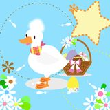 O pato e os ovos brancos ilustração royalty free