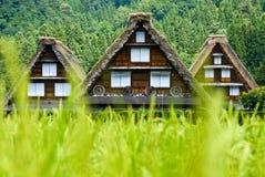 O património mundial Shirakawa-vai. Imagens de Stock