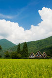 O património mundial Shirakawa-vai. Imagem de Stock Royalty Free