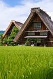 O património mundial Shirakawa-vai. Foto de Stock Royalty Free